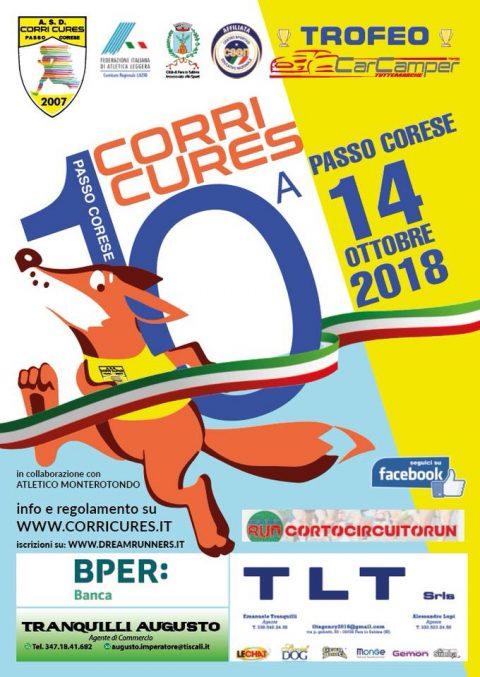 Corri Cures, 14 ottobre 2018 – Passo Corese (RI)